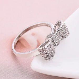 Beth Crystal Bow Ring